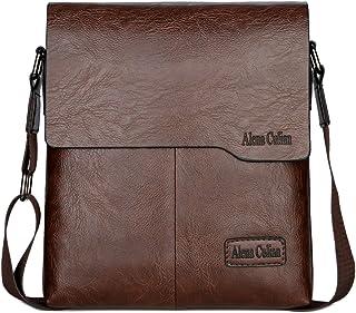 Alena Culian Shoulder Bag Business Man Bag Messenger Bag for Men Crossbody  Bag(brown) 778fc58b78d16