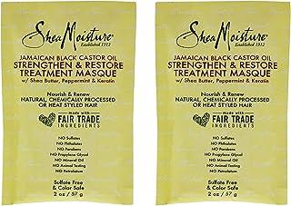 Shea Moisture Jamaican Black Castor Oil Strengthen-Grow And Restore Treatment Masque For Unisex, 3.8 Oz.