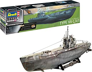 Revell- German Submarine Type VII C/41, Escala 1:72 Kit de Modelos de plástico, 1/72 (05163 5163