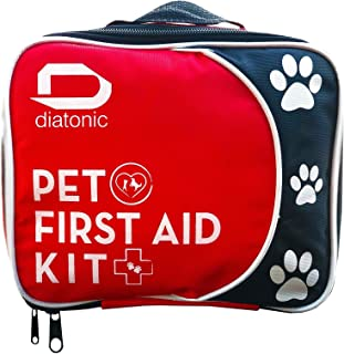 Pet First Aid Kit with Free Emergency Foldable Bowl — Travel and Camp for Pets and People, Universal First Aid — By Diatonic Designs