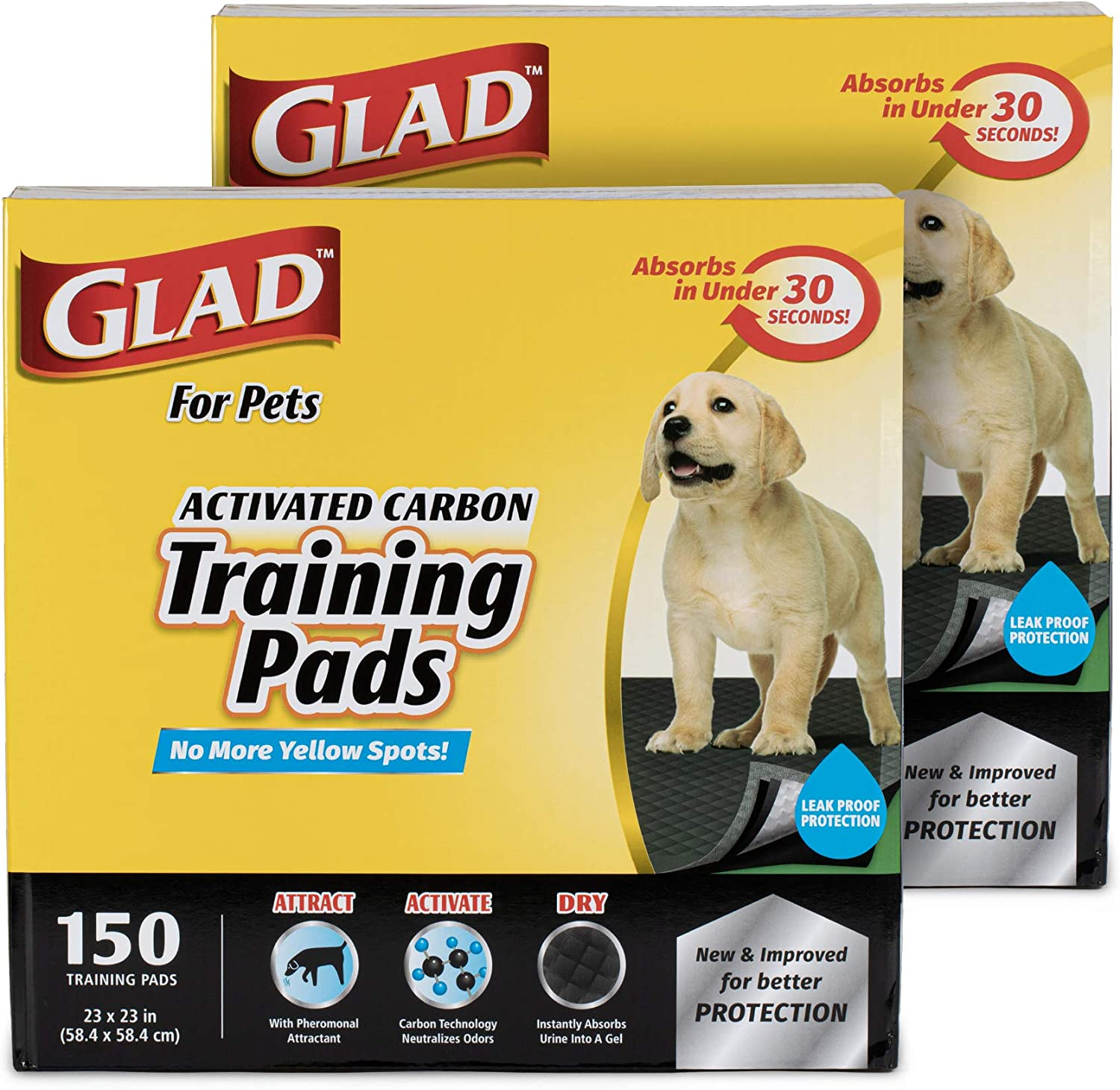 Glad for service Pets SEAL limited product Black Charcoal Dog Puppy Training Potty Pads-Puppy