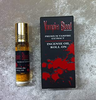 Nandita VAMPIRE BLOOD Incense Oil Roll On - Premium Vampire Extract - 8mL Per Bottle (10)