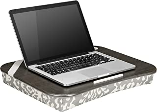LapGear Designer Lap Desk with Phone Holder - Gray Damask - Fits up to 17.3 Inch laptops - Style No. 45524
