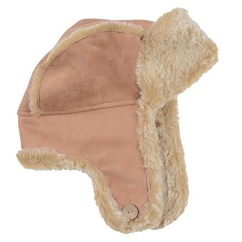 a17a0f50f1d Ladies Camel Trapper Hat Faux Sheepskin Faux Fur Trim   Lining Winter  Accessory