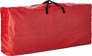 BenefitUSA Artificial Xmas Tree Carry Storage Bag with Handles Holiday Storage Container (Red, 64''x 15''x 30'' (LxWxH) fo...
