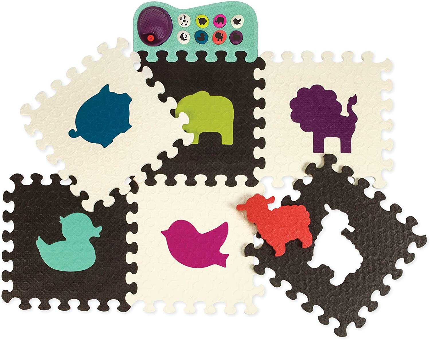 B Floorchestra Foam Animal Play Mat with Sounds