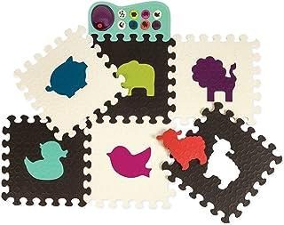 B.Toys 比乐 动物乐?#25490;?#34892;垫 爬行垫 感官训练 感统早教玩具-巧克力/象牙白 婴幼儿童益智玩具 礼物 0岁+ BX1459Z