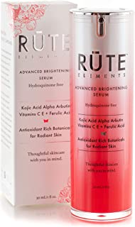 RUTE ELEMENTS Dark Spot Corrector Remover For Face | Melasma & Hyperpigmentation Treatment - Kojic Acid, Alpha Arbutin, Vitamin C, Ferulic Acid, Retinol - HQ FREE Anti Aging Skin Brightening Serum