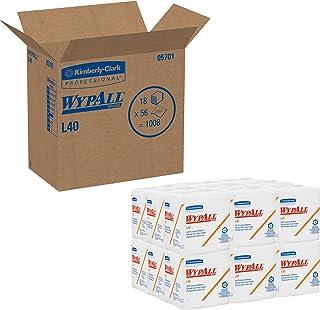WypAll L40 Poetsdoeken 7471-18 pakken x 56 gevouwen witte, 1-laags doeken