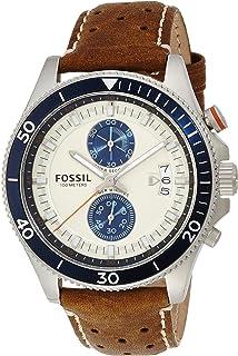 ساعة يد فوسيل ويكفيلد للرجال - نظام انالوج مع سوار من الجلد - CH2951