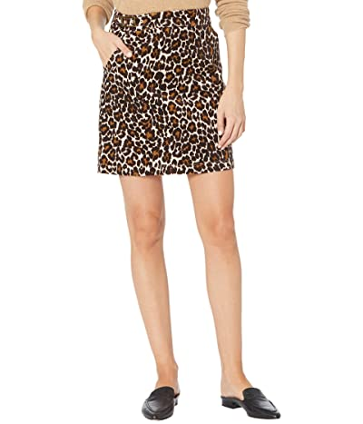 J.Crew Buckle Miniskirt in Leopard (Ivory/Brown) Women