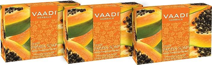 Vaadi Herbals Fresh Papaya Soap, 75g (Pack of 3)