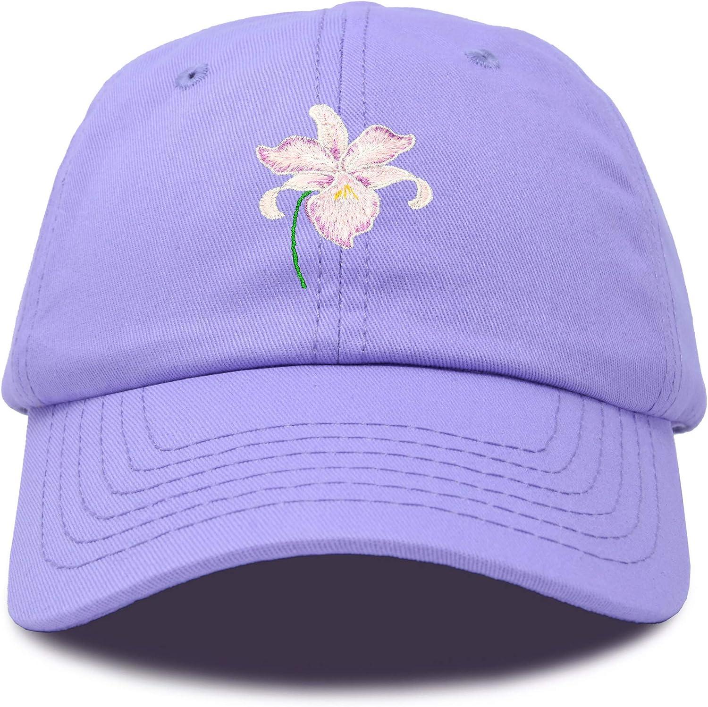 DALIX Orchid Hat Womens Floral Baseball Cap