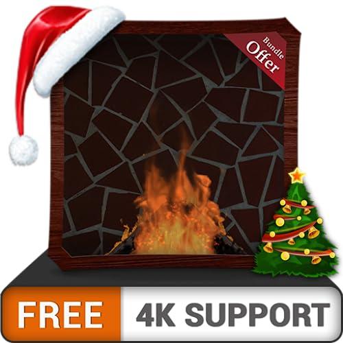 cabaña de chimenea gratis HD: disfrute de las frías vacaciones de Navidad en invierno en su TV HDR 4K, TV 8K y dispositivos de fuego como fondo de pantalla y tema para la mediación y la paz