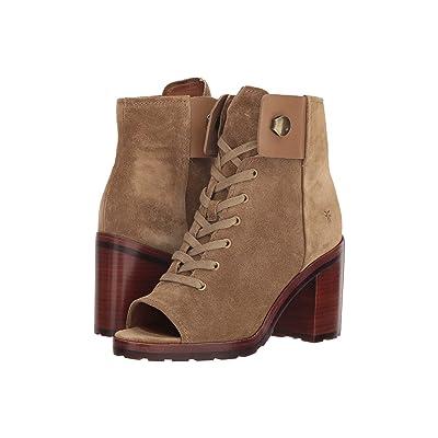 Frye Danica Lug Combat (Sand Soft Oiled Suede) High Heels