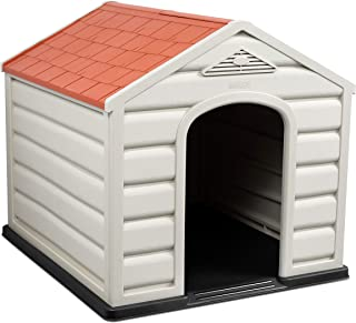 Internet's Best Outdoor Dog House - Comfortable Cool Shelter - Durable Plastic Design - Home Kennel - Indoor or Outdoor Use