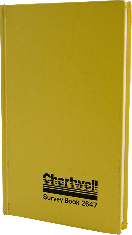 color amarillo y negro 19,2 x 12 cm Chartwell 2647Z dise/ño con textoChartwell Diario de mina 160 p/áginas Survey Book 2647