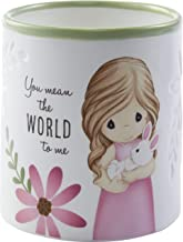 Precious Moments 203171 Girl with Bunny Holder Votive Candleholder, One Size, Multicolored