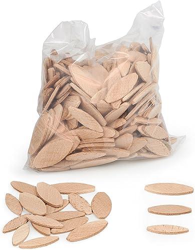 Tasselli legno WFix | 100 pezzi 0/10/20 | Lamelle in legno di faggio | Compatibile con lamellatrice e fresatrice per ...