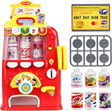 FS Interactive Vending Machine Game, Pretend Play Electronic Drink Machines, Early Developmental Toy, Develop Common Sense...
