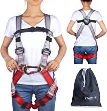 Oumers Kids' Climbing Harness, Full Body Harness, Safe Belts Guide Harness for Outward Band Expanding Training, Caving Rock Climbing Rappelling Equip - Safety Comfort 3 Types(Carabiner not Included)