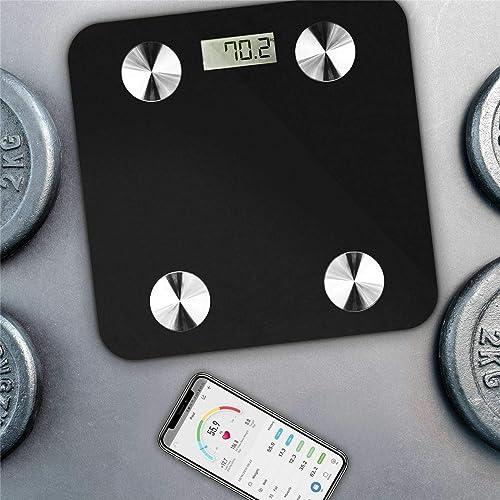 Smart Body Fat Weight Scale - Digital Bathroom BMI Scale High Precision Wireless Body Composition Analyzer Health Mon...
