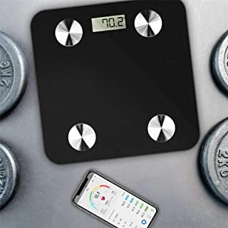 Smart Body Fat Weight Scale - Digital Bathroom BMI Scale High Precision Wireless Body Composition Analyzer Health Monitor ...