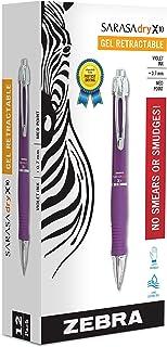 Zebra Pen X10 Retractable Gel Pen, Medium Point, 0.7mm, Violet Barrel, Acid Free Violet Ink, 12 Pack (Packaging may vary),...