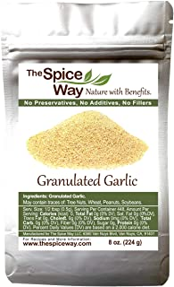 The Spice Way Granulated Garlic - Domestic, US Grown | 8 oz | resealable bag