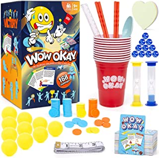 Wow Okay ! The Hilarious Challenges of Family Games & Party Game Card Games for Families Outdoor Games Family Games for Ki...