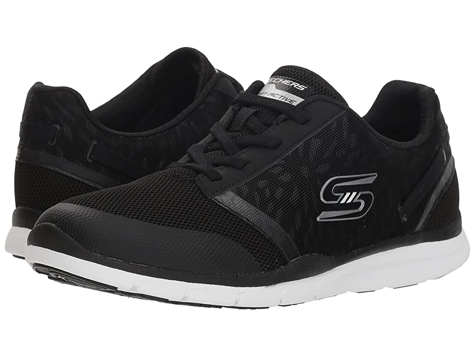 SKECHERS Gratis Cloud - Up to Speed (Black/White) Women's Shoes