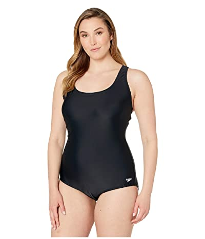 Speedo Plus Size Ultraback One-Piece (Speedo Black) Women