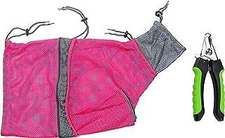 LODESTAR Cat Grooming Bag & Pet Nail Clippers Set, Breathable Mesh Restraint Bag for Bath, Injection, Nail Clipping. Nail ...