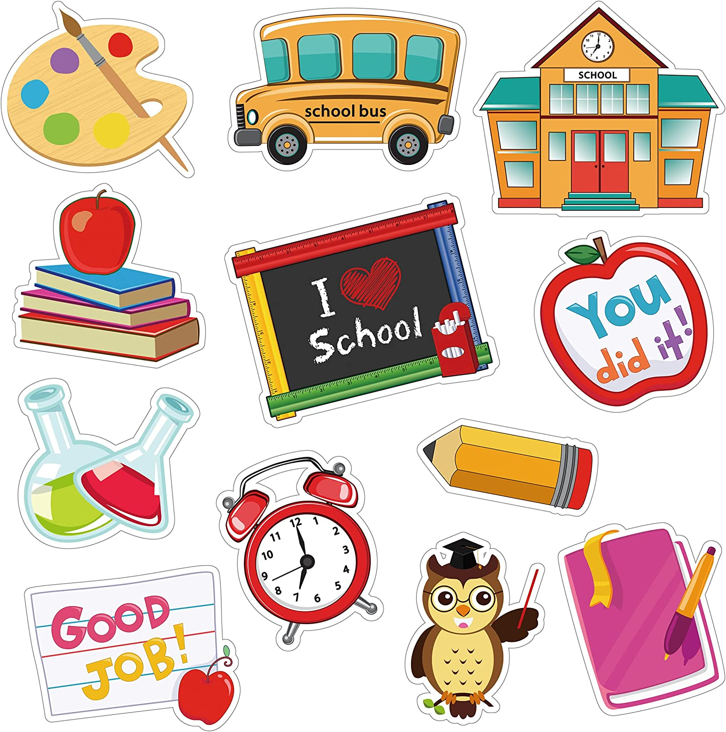 NBjiuyin Back to School Decorations Cut-Outs Save money NEW Colorf 36 Classroom