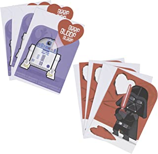 Hallmark Star Wars Valentines Day Cards Assortment for Kids, Darth Vader and R2-D2 (6 Valentine's Day Cards with Envelopes)