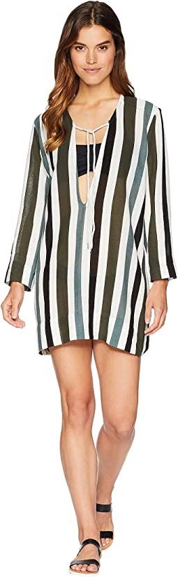 La Paz Deep V-Cut with String Tie Cover-Up