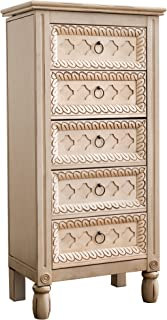 Hives and Honey Abby Jewelry Armoire, 40.25in X 19.5in X 11.75in, Antique Ivory
