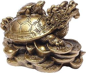 Feng Shui resina dragón tortugas Estatua Decoración del hogar regalo BS018
