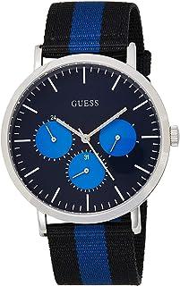 GUESS Men's Slate 43mm Two Tone Nylon Band Steel Case Quartz Watch W1045G1