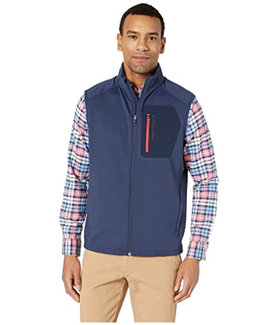 Vineyard Vines Walker Full Zip Vest (Deep Bay) Men