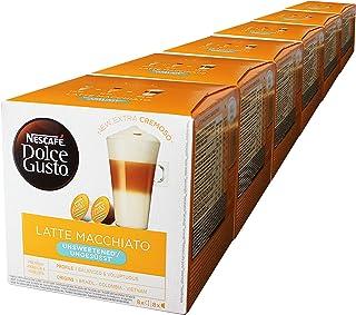 Nescafé Dolce Gusto Latte Macchiato Unsweetened, 6 Pakken, 6 x 16 Capsules (48 kopjes)