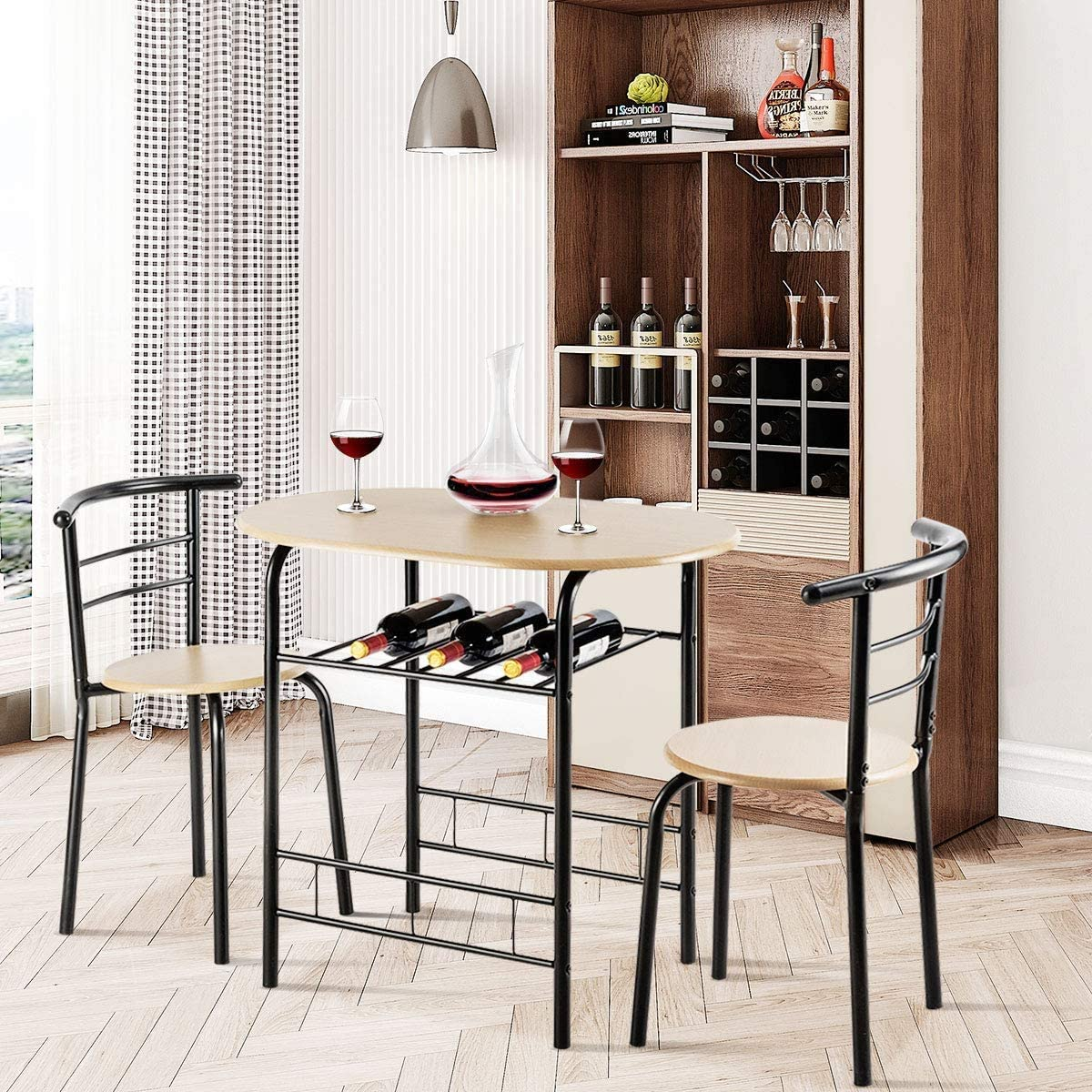 Buy ARLIME 9 Piece Dining Table Set, 9 Chairs and Round Table Set ...