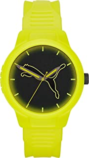 Men's Reset V2 Quartz Three Hand Silicone Watch - Featuring Puma Jumping Cat Logo