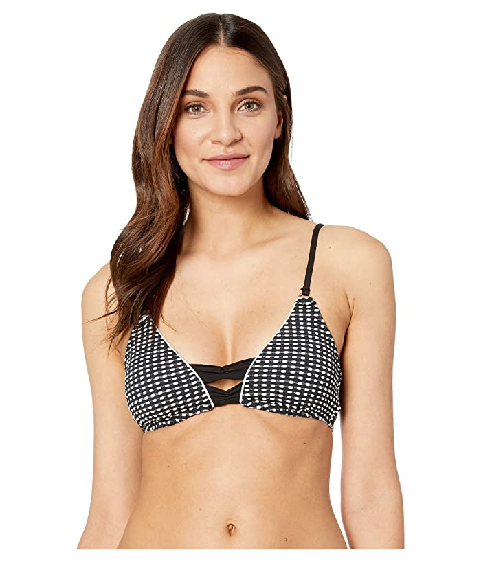 Nanette Lepore Femme Dot Enchantress Top (Black) Women