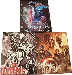 Marvel the Avengers Age of Ultron 3 Folder Set Vision, Sketched Heroes, Earth's Mightiest Heroes