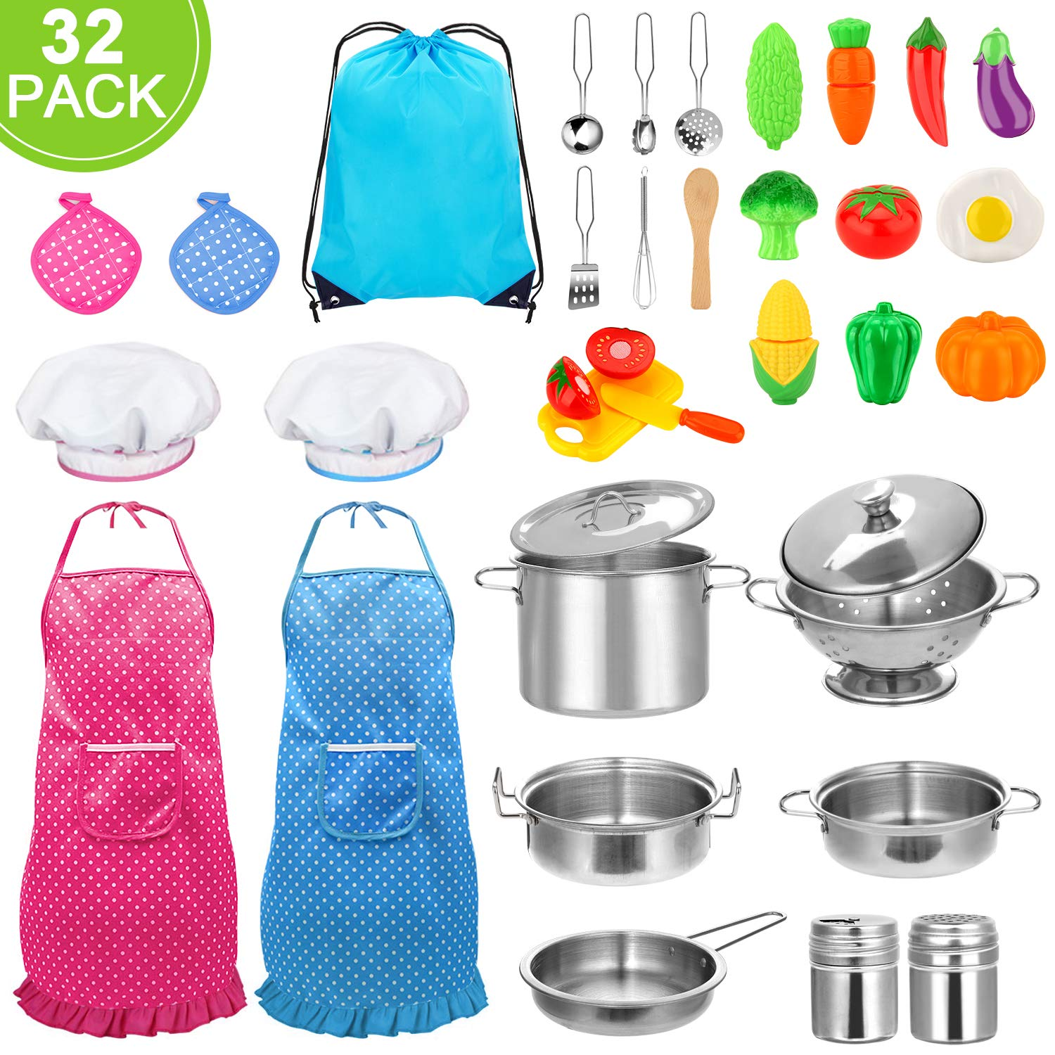 Stainless Utensils Cookware Vegetables Toddlers