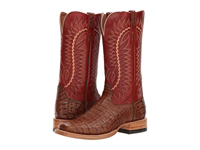 Ariat Relentless Gold Buckle (Caramel Caiman Belly/Amberglow Ace) Cowboy Boots
