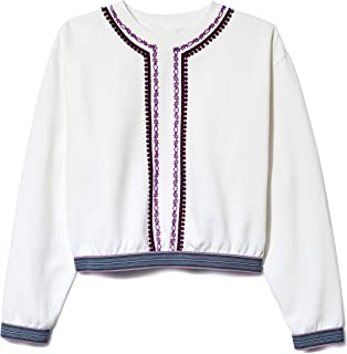 Anna Sui Lilac Multi Gingham & Lace Trimmed Pullover
