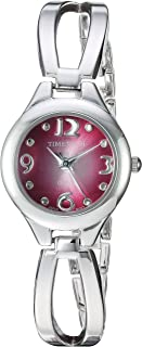 Viva Time Women's 'Timetech' Quartz Metal and Stainless Steel Casual Watch, Color Silver-Toned (Model: 2688L)