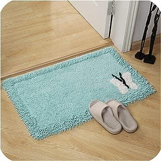 Thicken Cotton Chenille Bath Mat Toilet Door mats for Bathroom Rugs Kitchen Carpets Bedroom Floor Absorbent Doormat Outdoor,Green,45x150cm